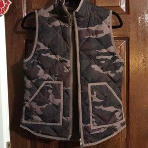 J Crew Camo Puffer Vest